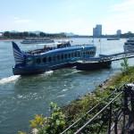 Bonner Rheinufer mit Blick auf den langen Eugen und den Posttower