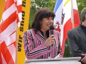 Marion Walsmann Ministerin für Bundes- und Europaangelegenheiten während der Eröffnungsfeier der 7. Deutschen Zollmeisterschaft Erfurt 2011