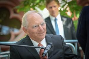 Dr. Wolfgang Schäuble während der Eröffnungsveranstaltung zur 12. Deutschen Zollmeisterschaft Freiburg 2016