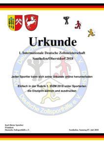 thumbnail of Bericht Urkunde 1.IDZM 2018