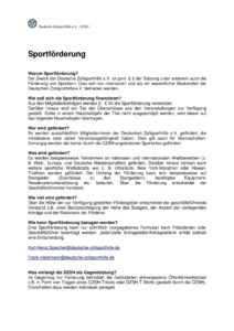 thumbnail of Sportförderung